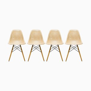 Vintage DSW Chairs by Charles & Ray Eames for Vitra, Set of 2