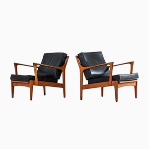 Kuba Easy Chairs by Bertil Fridhagen for Bröderna Andersson, 1960s, Set of 2