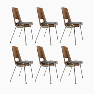 Vintage Stacking Dining Chairs from Baumann, Set of 6