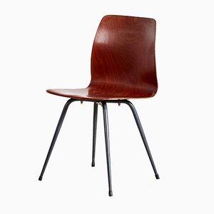 Mid-Century Beistellstuhl aus Holz von Pag Presswerk Ag Essen, 1960er