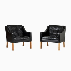 Mid-Century 2207 Lounge Chairs by Børge Mogensen for Fredericia, Set of 2