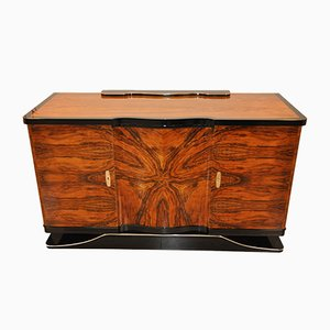 Art Deco Curved Walnut Sideboard, 1920s