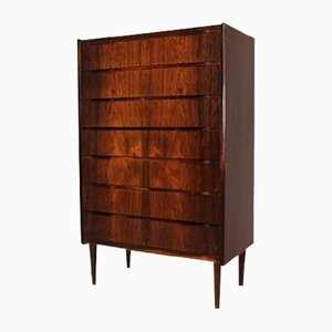 Rosewood Tallboy Chest of Drawers, 1950s