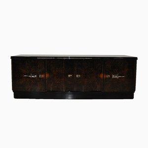 Credenza Art Deco impiallacciata in legno scuro