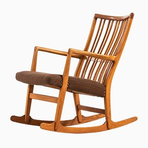Model ML-33 Rocking Chair by Hans J. Wegner for A/S Mikael Laursen, 1950s