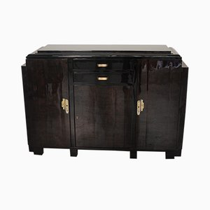 Small Art Deco Buffet with Mahogany Veneer, 1930s