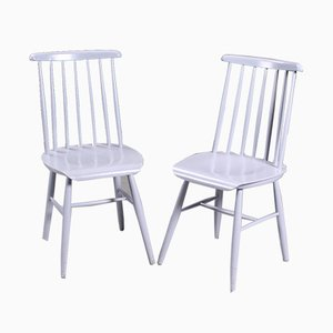 Danish Mid-Century Side Chairs by Ilmari Tapiovaara, 1950s, Set of 2