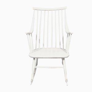 Rocking Chair Blanc par Lena Larsson pour Nesto, Suède, 1960s