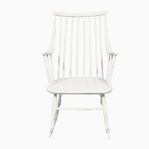 White Rocking Chair by Lena Larsson for Nesto, Sweden, 1960s