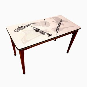 Musical Instrument Coffee Table, 1950s