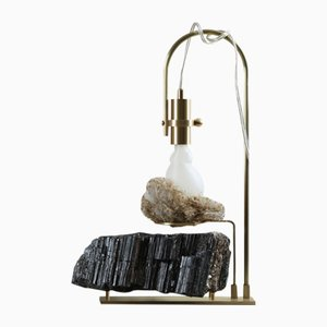 Wake Up Call Table Lamp with Black Tourmaline by Richard Yasmine