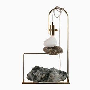 Lámpara de mesa Wake Up Call con berilo esmeralda de Richard Yasmine