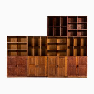 Vintage Storage Unit with 6 Bookcases & 4 Cabinets