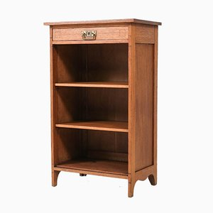 Art Nouveau Dutch Oak Open Bookcase, 1900s