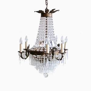 Vintage French Tiered and Branch Chandelier