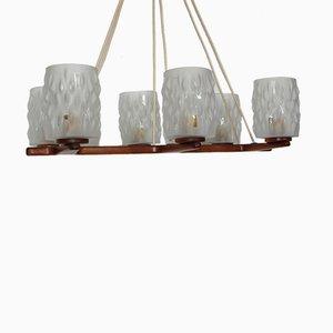 Lámpara de araña danesa de teca, años 60