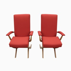 Vintage French Armchairs, 1960s, Set of 2