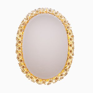 Vintage Flower Mirror with Backlighting from Palwa, 1960s