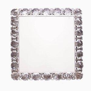 Beleuchteter Spiegel mit Glaskristallen von Palwa, 1960er