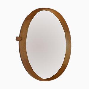 Specchio da parete in quercia di Östen & Uno Kristiansson per Luxus, 1952