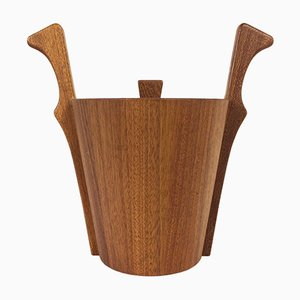 Danish Teak Ice Bucket from Anri Form, 1950s