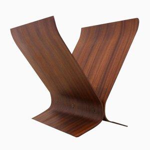 Portariviste moderno in legno di Paul Rowan per Umbra, anni '80