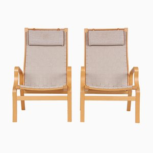 Vintage Danish Model Bern Easy Chairs, Set of 2
