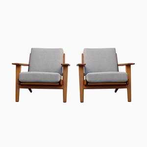 Model GE 290 Teak Lounge Chairs by Hans J. Wegner for Getama, 1960s, Set of 2