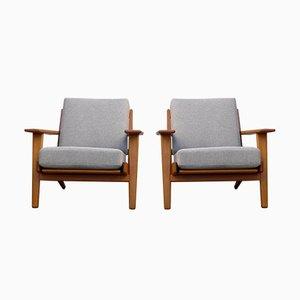 Modell GE 290 Teak Sessel von Hans J. Wegner für Getama, 1960er, 2er Set