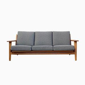 Modell GE 290 Teak 3-Sitzer Sofa von Hans J. Wegner für Getama, 1960er