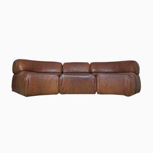 Modulares Cosmos Sofa aus Büffelleder von de Sede, 1970er