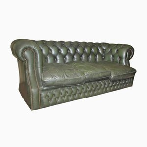 Green Chesterfield 3-Seat Sofa, 1960s