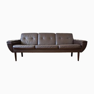 Leather Sofa by Svend Skipper for Skipper, 1960s