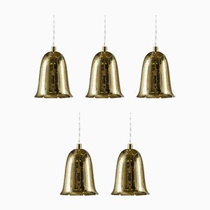 Swedish Mid-Century Perforated Brass Pendant from Boréns