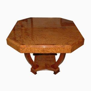 Tavolo Art Déco in amboina, anni '30