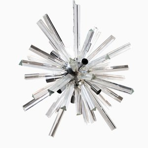 Italian Murano Glass Starburst Chandelier, 1970s