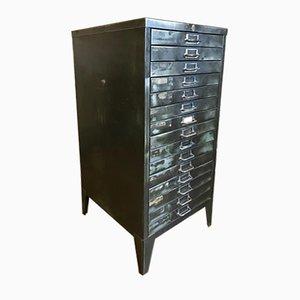 Vintage Industrial Metal Filing Cabinet with 15 Drawers