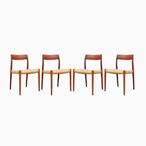Model 77 Chairs by Niels Otto Møller for J.L. Møllers, Set of 4