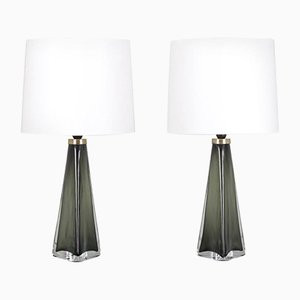 Lampe de Bureau Modèle RD1319 par Carl Fagerlund pour Orrefors, Set de 2