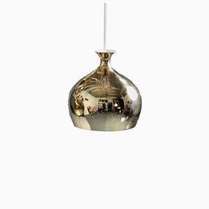 Lampada a sospensione Onion in ottone di Helge Zimdal per Falkenbergs Belysning