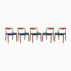 Dining Chairs by Vilhelm Wohlert for Poul Jeppesen, 1958, Set of 5