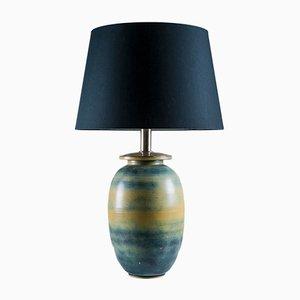 Lampada da tavolo grande in ceramica di Gunnar Nylund per Rörstrand