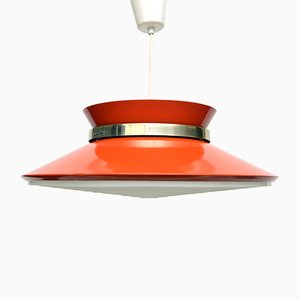Orange Pendant Light by Carl Thore for Granhaga, 1970s