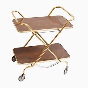 Mid-Century Wood Veneer Bar Cart, 1960s