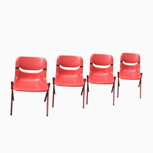 Dorsal Chairs by Emilio Ambasz & Giancarlo Piretti for Openark, 1990s, Set of 4