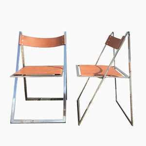 Elios Folding Chairs by Fontoni & Geraci, 1970s, Set of 2