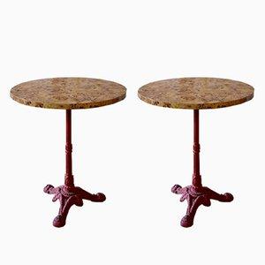 Tables du Café Guéridon Vintage, Set de 2