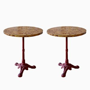 Vintage Guéridon Cafe Tables, Set of 2