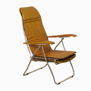 Leatherette Folding Chair, 1950s