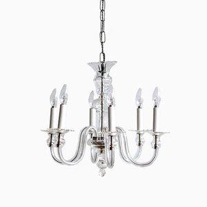 Lámpara de araña bohemia de cristal, años 30
